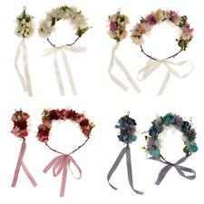 Wedding Party Flower Forehead Garland Bracelet Hand Flowers Decoration