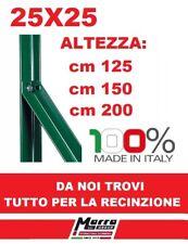 SAETTA VERDE  L X PALO PALETTO FERRO ZINCATO PALETTI T  RECINZIONE RETE ITALY