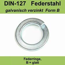 6,0 DIN 127 Federringe B Federstahl Federscheiben Sperringe verzinkte M6 mm VZ