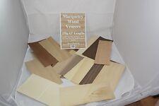 """Placage marqueterie de bois 12 """"longueurs feuilles assortis"""
