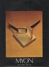 PUBLICITE  1970  MYON briquet montre étui cigarette