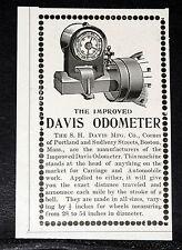 1903 OLD MAGAZINE PRINT AD, IMPROVED DAVIS AUTOMOBILE ODOMETER, EXACT DISTANCE!