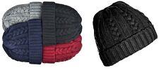 Para Hombre Chicos Unisex Cable Knit Turn plegar Beanie nieve esquí PAC Invierno Grueso Sombrero