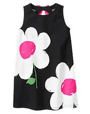 NWT Gymboree Daisy Park Black Dress Daisy Print 5 6 7 8 Girls