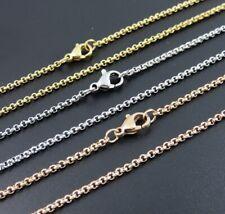 Rolokette Erbskette 1-3mm Edelstahl 40-90 cm Halskette für Anhänger Damen Herren