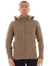 CMP Cardigan Woollen cardigan Casual jacket brown heat insulating Hood