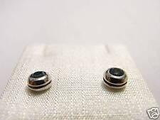 orecchini argento topazio 3,5c Earrings Swarovski stone