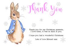 Personnalisé THANK YOU NOTES Notelets Noël Beatrix Potter Peter Rabbit #3