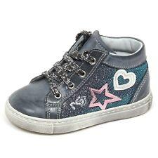 E2104 sneaker bimba blu/grey NERO GIARDINI JUNIOR scarpe glitter shoe kid baby