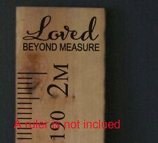 Loved beyond Measure Growth Chart Ruler Add-On Nursery Kids Vinyl Decal Sticker
