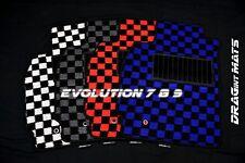 DRAGintMATS JDM Checkered Floor Mats Mitsubishi Lancer Evo 7 8 9 Karo OEM MR LHD
