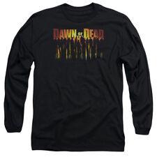 Dawn Of The Dead Walking Dead Mens Long Sleeve Shirt BLACK