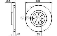 2x BOSCH Bremsscheiben vorne Belüftet 284mm Für OPEL CORSA 0 986 479 224