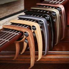 AU! Quick Change Grain Clamp Key Capo Wood For Acoustic Electric Guitar Bass