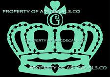 VRS Crown Queen King Princess TWILIGHT INITIAL G Car Decal Vinyl Wall Sticker