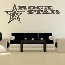 Rock Star Sign & Stars Musicians & Band Logos Wall Sticker Music Decor Art Decal