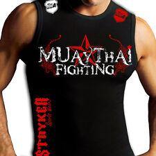 Muay Thai Fighting Tiger Muscle Stryker Sleeveless T-Shirt Top UFC MMA Jiu Jitsu