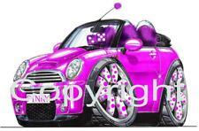 Koolart Car - Mini Furry Cooper Metal Keyring / Key Ring - 2386