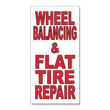 Wheel Balancing & Flat Tire Repair Body Shop  DECAL STICKER Retail Store Sign