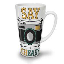 Cámara decir Cheasy Divertido Nuevo Blanco Té Café Taza de café con leche 12 17 OZ (approx. 481.93 g) | wellcoda