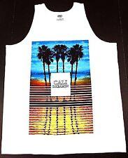 CALIFORNIA DREAMIN Tank Top T-shirt Cali Palm Tree West Coast Vest White New