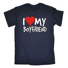 I Love My Boyfriend Camiseta saliendo de San Valentín Novia Divertido Regalo De Cumpleaños