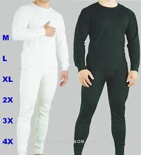 Mens Thermal Set UNDERWEAR Long John 2pc SET Pant & shirt set  M - 6X Slim Fit
