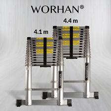WORHAN® Telescopic Extendable Multipurpose Aluminium Ladder ALUMINIUM RINGS