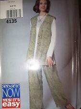 4135 Vintage Butterick SEWING Pattern Misses Tunic Pants UNCUT NEW OOP FF