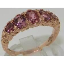 9K Rose Gold Luxury Vibrant Pink Tourmaline Eternity Band Ring