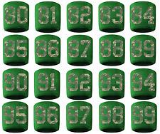 #80-99 Number Sweatband Wristband Baseball Lacrosse Soccer Green Camo Cmaouflage