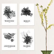 """JUNIWORDS Poster """"Stadt nach Wahl"""" City Städte Skyline 21 x 30 cm Weiß Design A"""