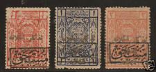 Saudi Arabia, Hejaz SG D57-D59 MOG. 1924 Hejaz dues, Cert