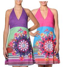 Smash Barcelona S-XXL UK 10-18 RRP ?41.50 Ubajara Halter Dress Tropical Floral-