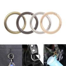 4Pcs Round Ring Circle Spring Snap DIY Keyring Buckle Handbag Hook Bag Parts HOT