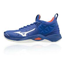 Mizuno Mens Wave Momentum Indoor Court Shoes Blue Sports Badminton Handball
