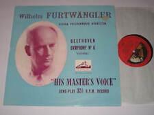 LP/BEETHOVEN/FURTWÄNGLER/SYMPHONY 6/HMV ALP1041 MEGARAR VG+