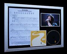 BRUNO MARS Grenade LIMITED CD MUSIC FRAMED DISPLAY+EXPRESS GLOBAL SHIPPING!