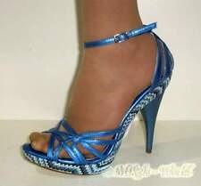 S-High Heels - Glänzende Sandalette Fernanda blau
