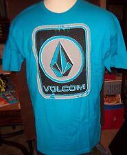 NEW NWT Volcom turquoise blue with big logo  T SHIRT S Small M Medium XL XXL 2XL