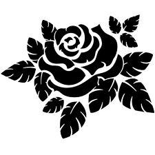 Sticker Géant XXL Fleur Rose, feuilles, Florale,  40x50 cm à 60x74 cm (FLEUR046)