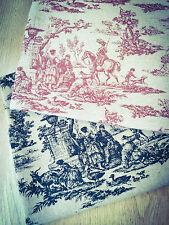 Toile De Jouy Natural Cotton Linen Fabric. Price per 1/2 meter