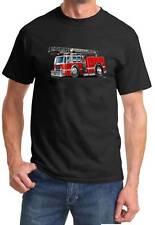 Fire Truck Ladder Truck Cartoon Design Tshirt NEW FREE SHIPPING