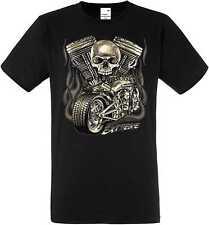 T Shirt in schwarz HD V Twin Biker Chopper-&Oldschooldruck Modell Extreme