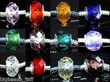 5 Cristal Estilo cristal cuentas encanto Fit europeo Estilo Serpiente Cadenas