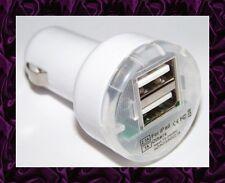 ★★★ Mini CHARGEUR Voiture 2 USB Pour ASUS TF101 / TF201 / Slider SL101 ★★★ BLANC
