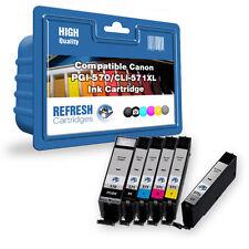 compatible con Canon pgi-570 / cli-571 XL 6 CARTUCHO DE TINTA PACK Múltiple Gris