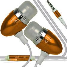 Aluminium Stereo In Ear-Earbud Hands Free Earphones Headphones+Microphone✔Orange