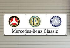MERCEDES Benz Classico Logo in PVC Workshop Garage BANNER SIGN IMPERMEABILE sign 003