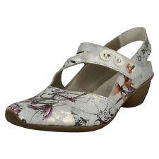 Ladies Rieker Heeled Slingback Shoes 43771